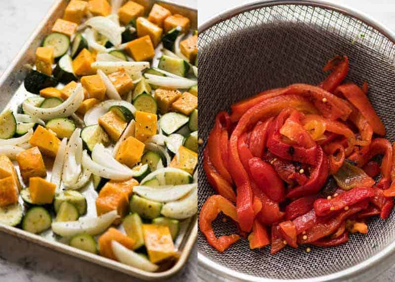 Roasted Vegetables and Chargrilled Peppers for Vegetarian Lasagna