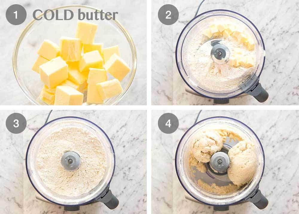 Preparation steps for how to make plain scones