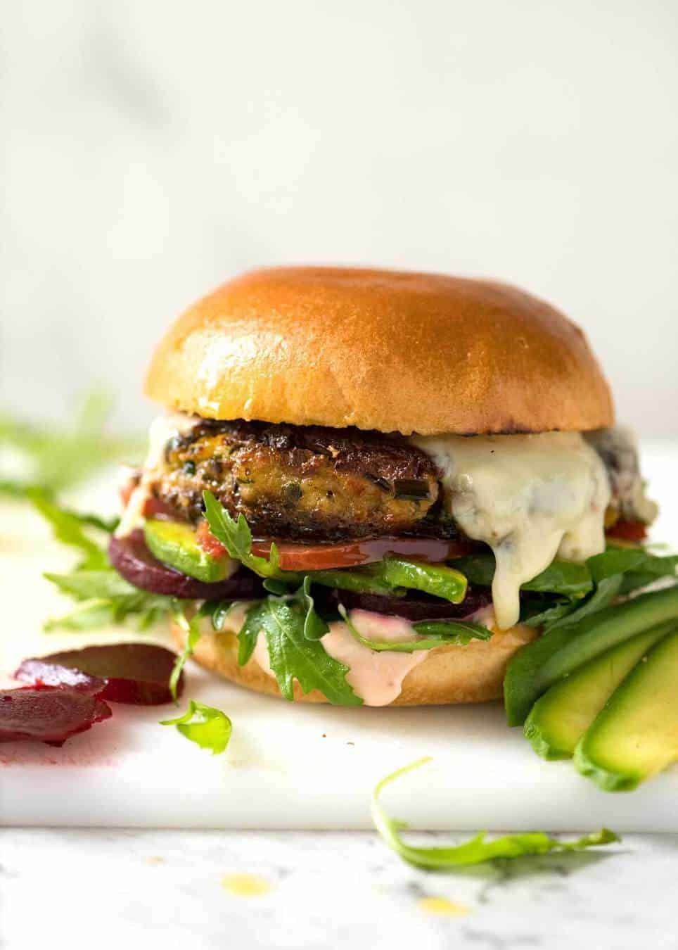 Veggie Burgers Recipetin Eats