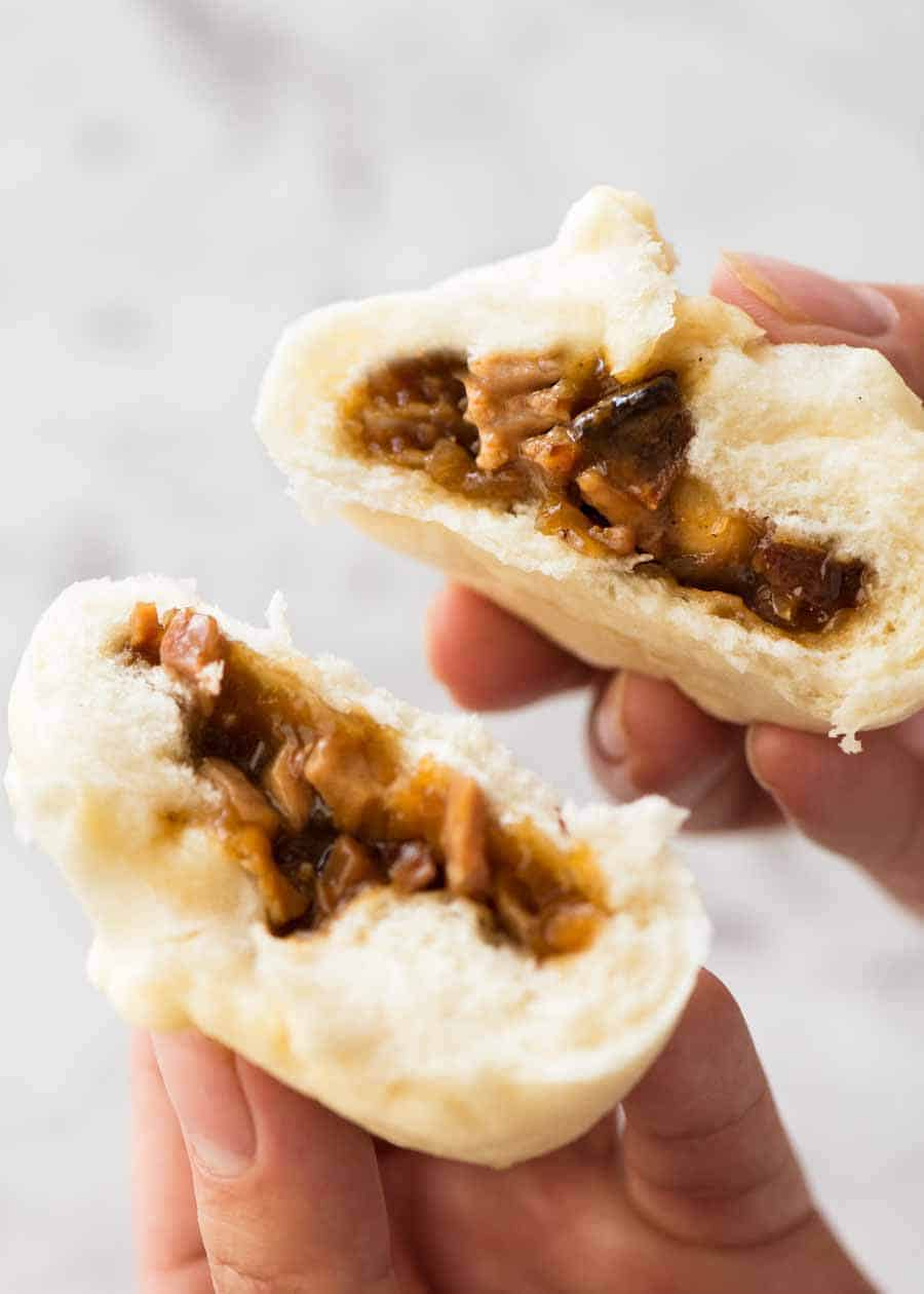 Chinese Steamed Pork Buns Recipetin Eats