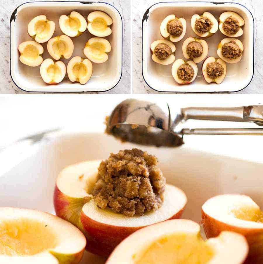 Preparation steps for Baked Apples
