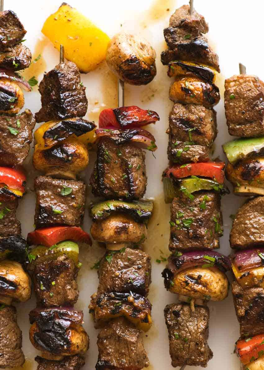 Marinated Beef Kabobs Recipetin Eats