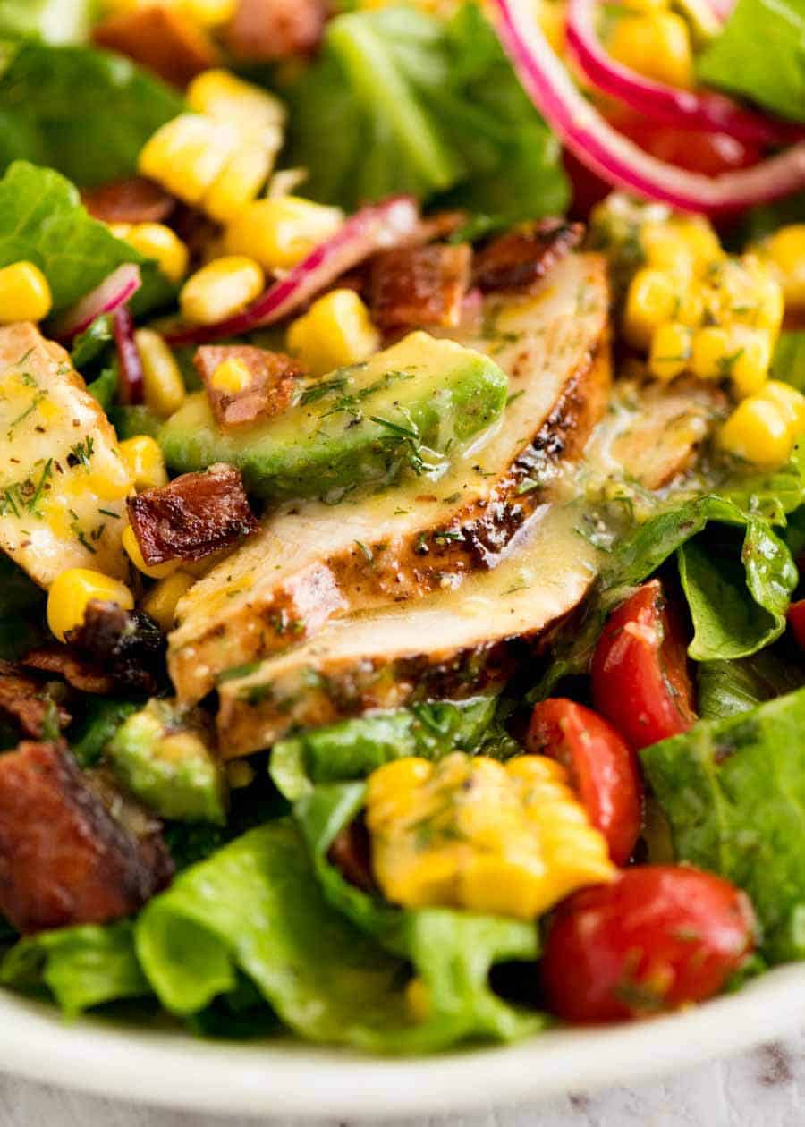 Close up of chicken in Lemon Chicken Salad