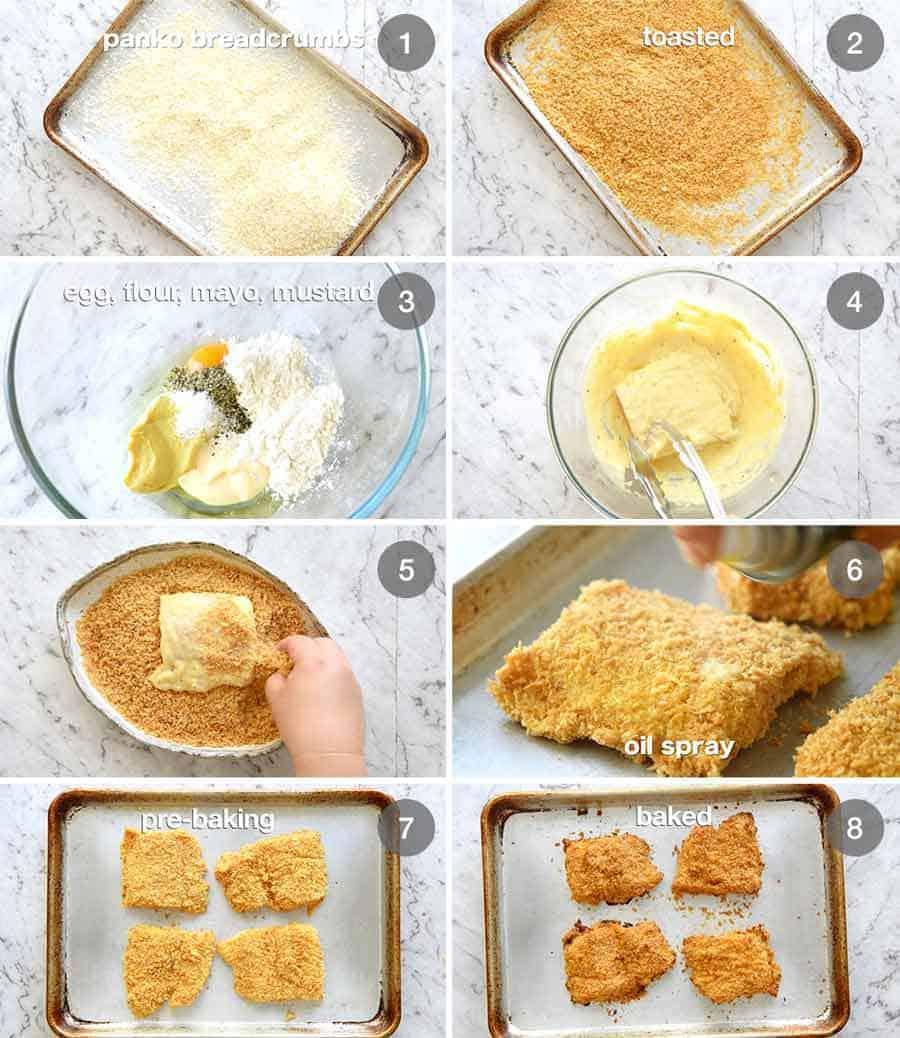 Preparation steps for Homemade Filet-O-Fish (BAKED!)