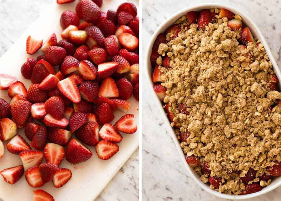 Preparation of Strawberry Crumble