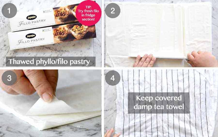 How to use Phyllo pastry / Filo pastry