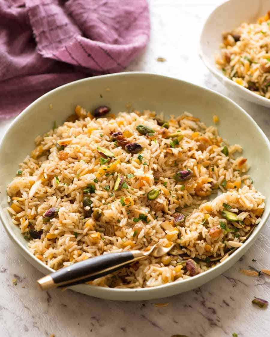 Rice Recipes Pilaf: Rice Pilaf With Nuts And Dried Fruit