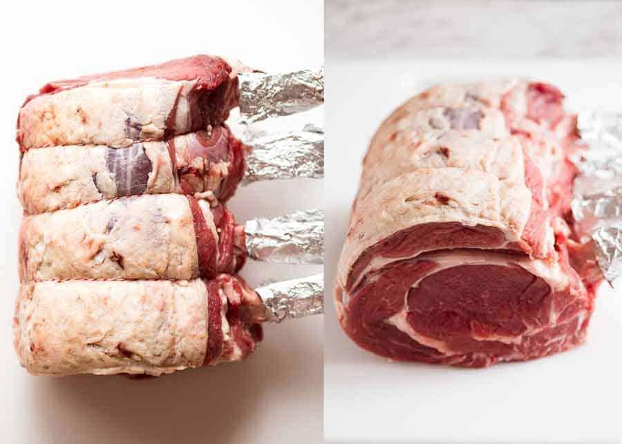 Raw Beef Standing Rib Roast (Prime Rib)