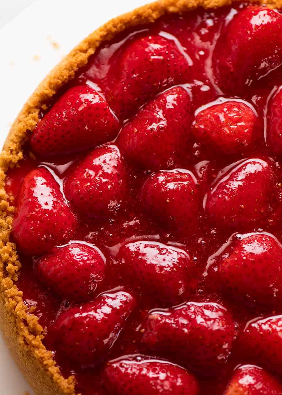Close up of Strawberry Topping Sauce for Strawberry Cheesecake