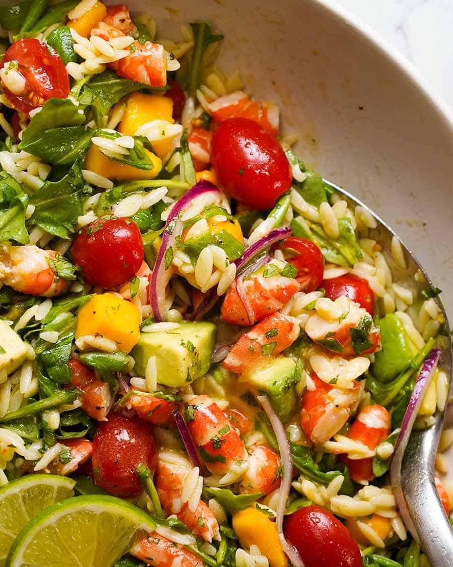 Prawn Mango Avocado Summer Salad Recipetin Eats