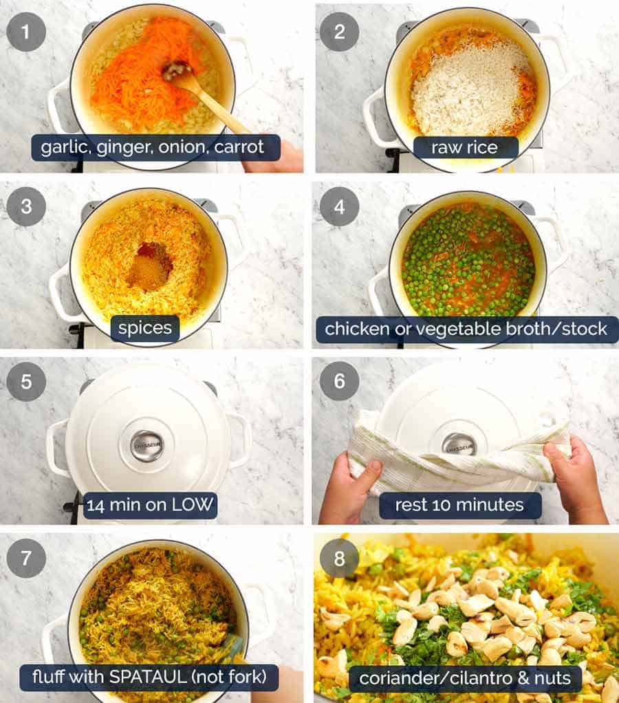 How to make Curried Rice with Basmati Rice