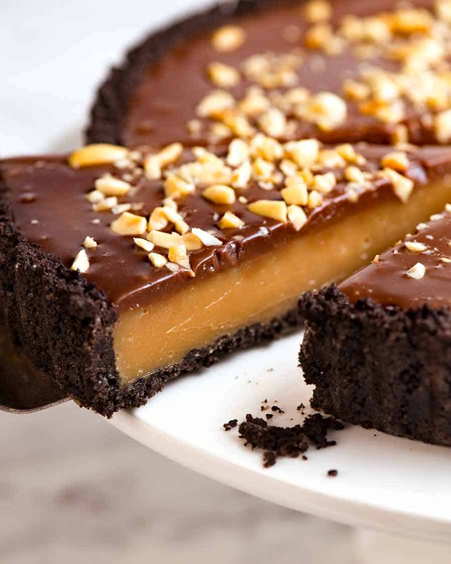 Close up of slice of Peanut Butter Pie