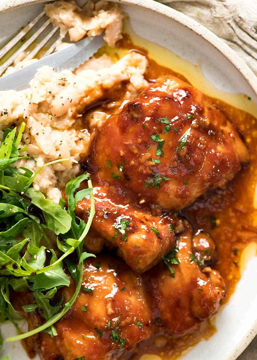 Sticky Baked Chicken Thighs Recipetin Eats