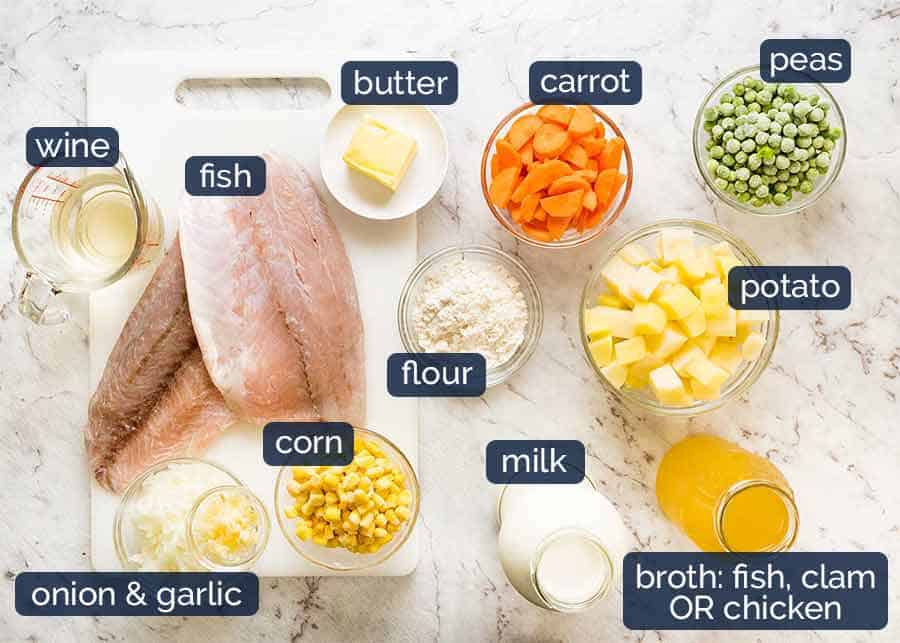 Fish Chowder Soup ingredients