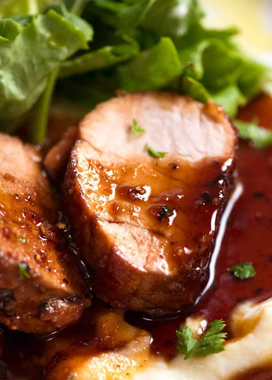 Pork Tenderloin With Honey Garlic Sauce Recipetin Eats
