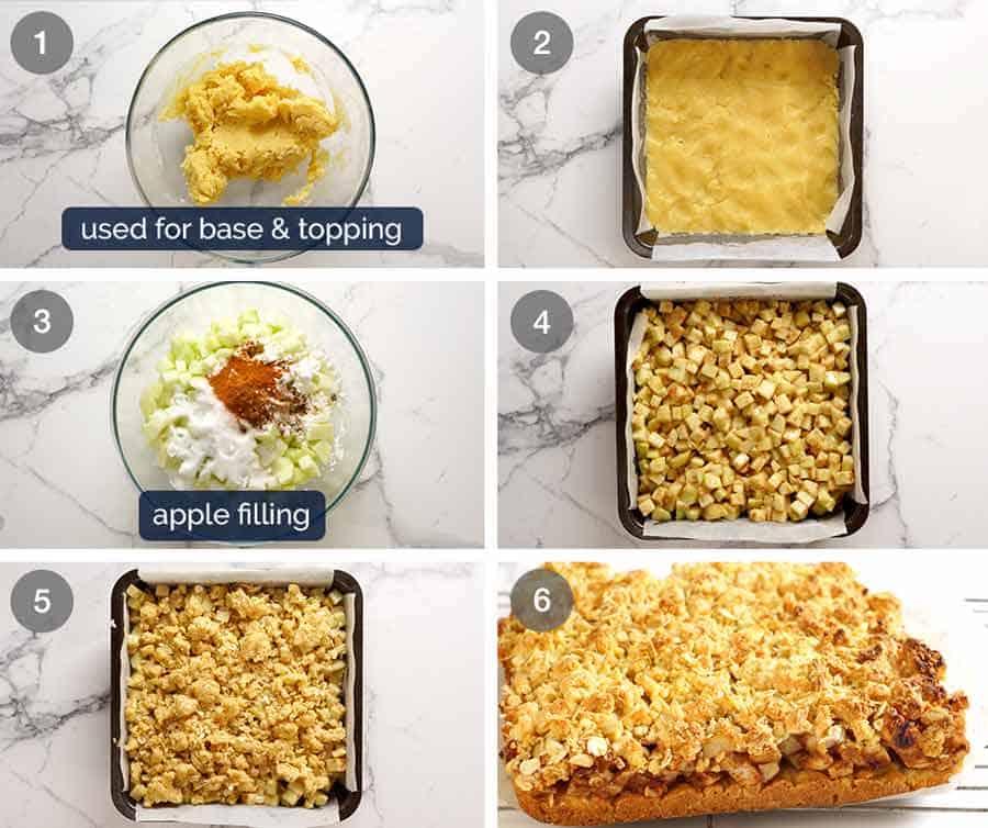 How to make Apple Crumble Bars