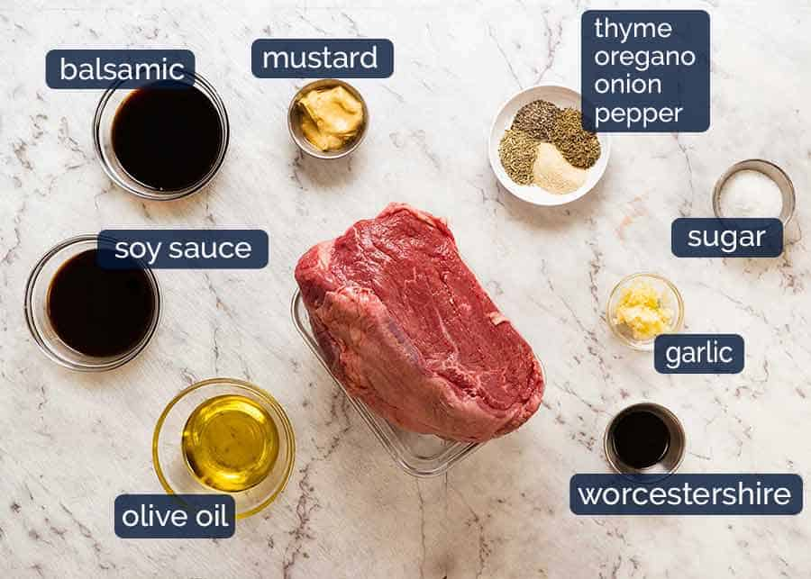Marinated Roast Beef ingredients
