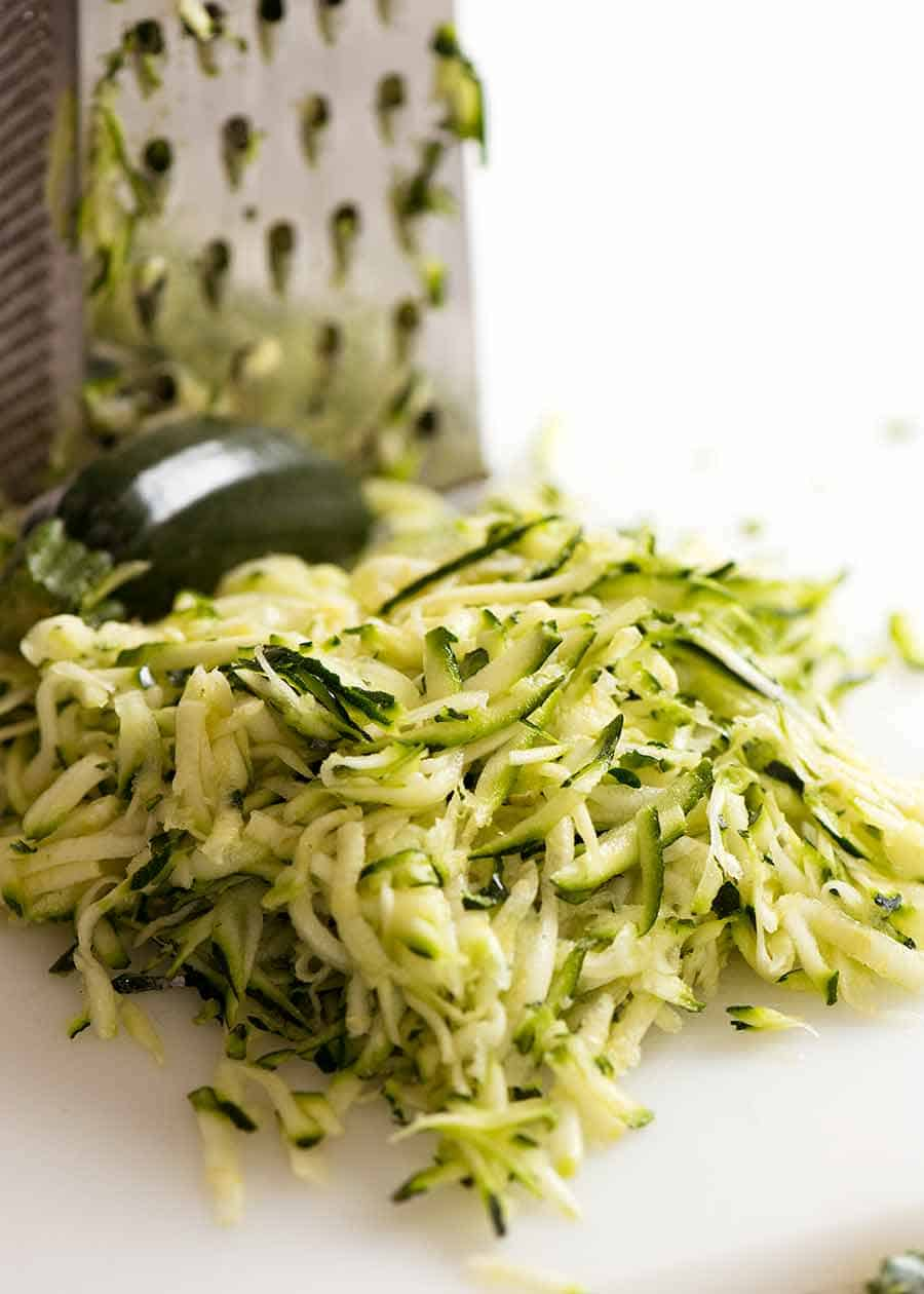 Fresh grated zucchini