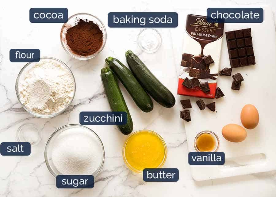 What goes in Chocolate Zucchini Bread