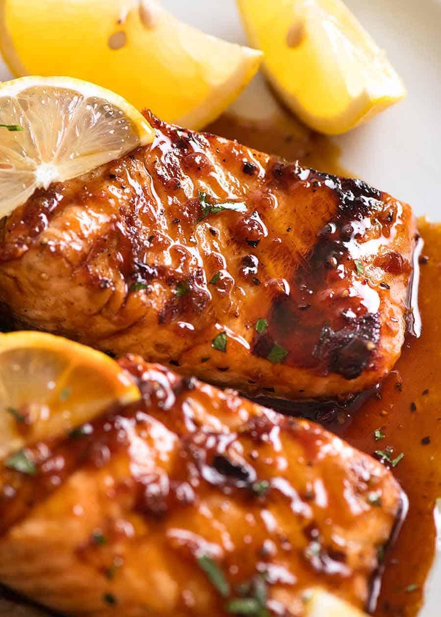 Marinated Grilled Salmon Recipetin Eats