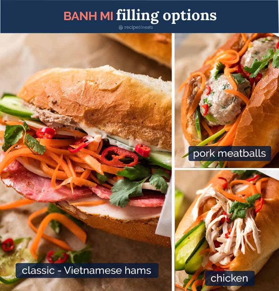 Banh Mi filling options