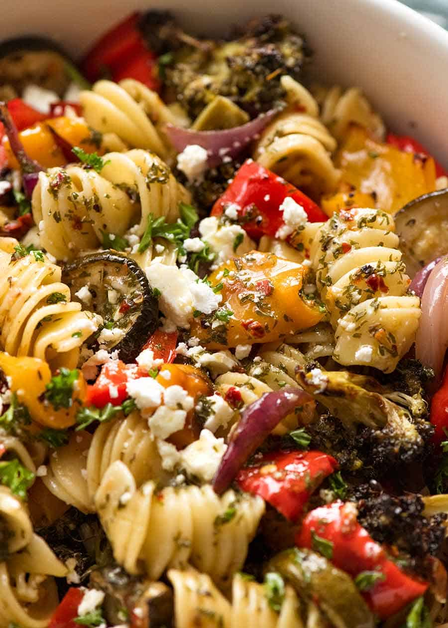Marinated Vegetarian Pasta Salad Recipetin Eats