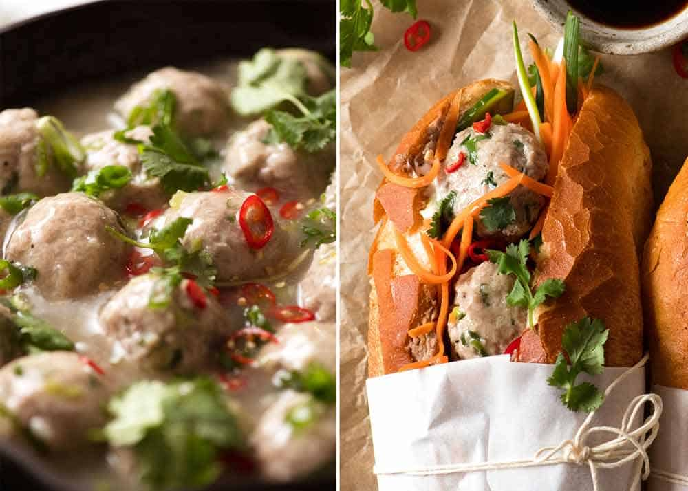 Vietnamese Meatball Banh Mi Vietnamese Sandwich