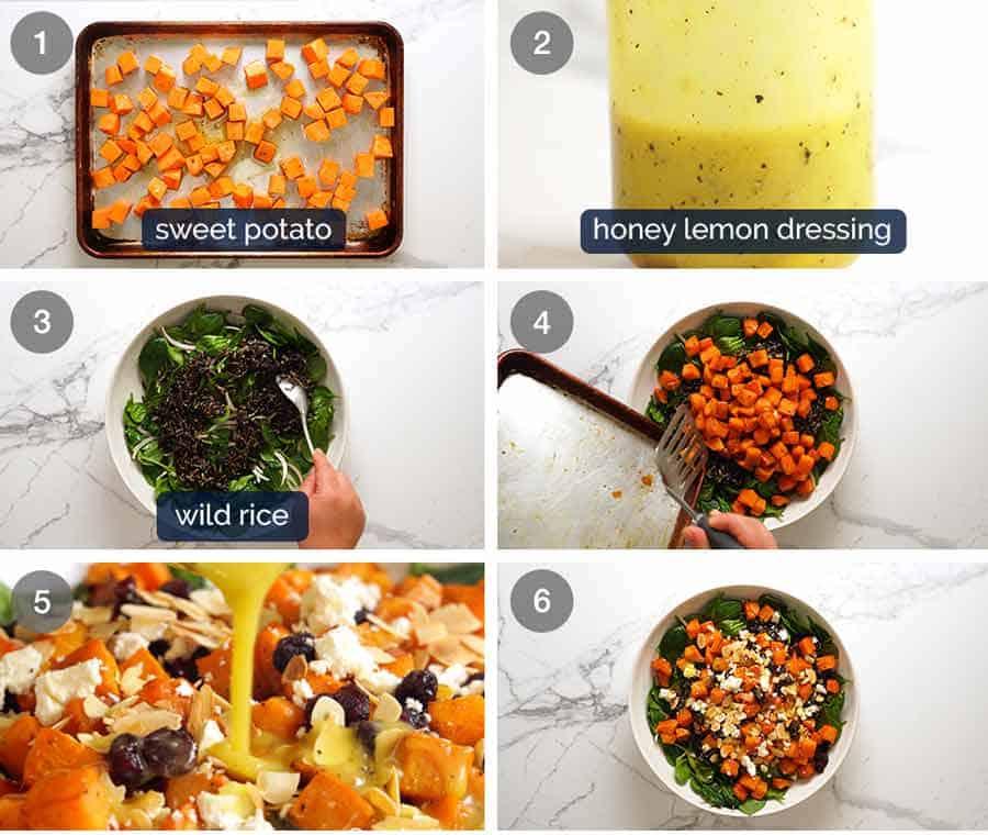 How to make Sweet Potato Salad with Honey Lemon Dressing