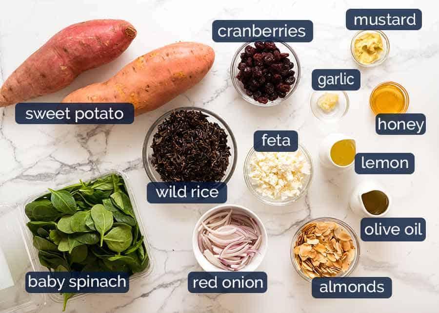 Sweet Potato Salad ingredients