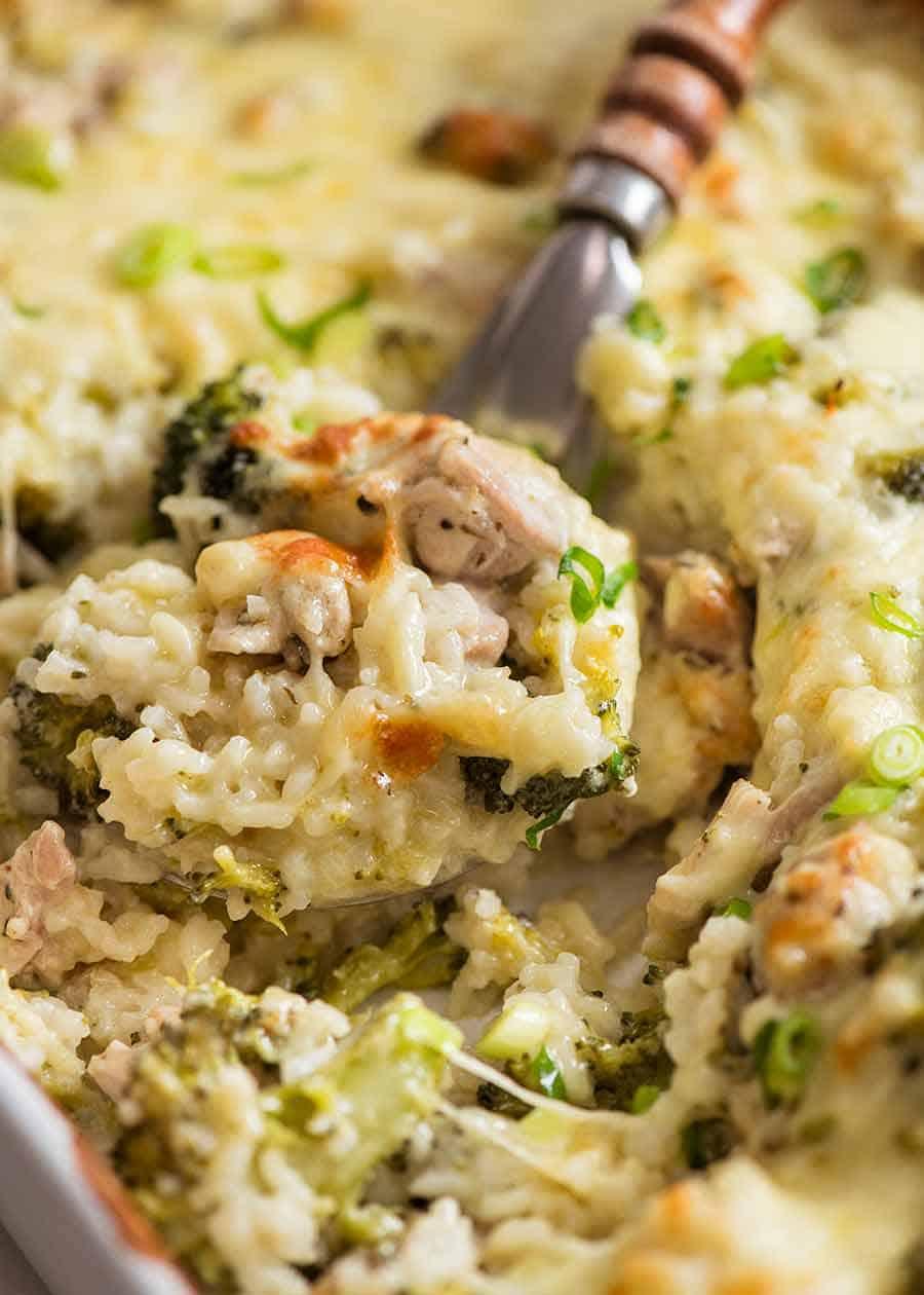 Emergency Chicken Rice Casserole