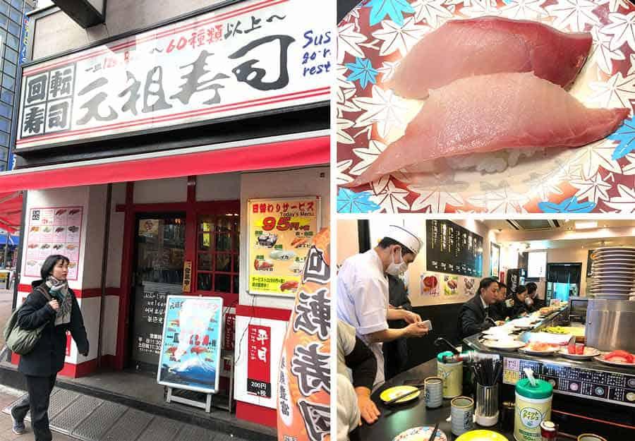 Akihabara-cheap sushi Gansozushi