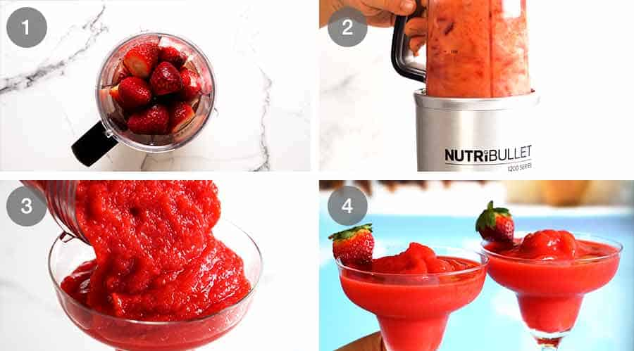 How to make Frozen Strawberry Daiquiris
