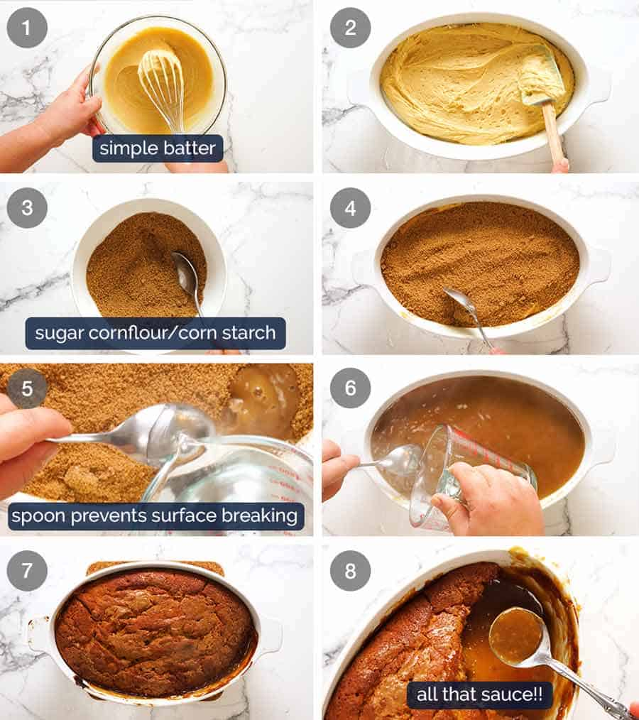 How to make Self Saucing Butterscotch Pudding