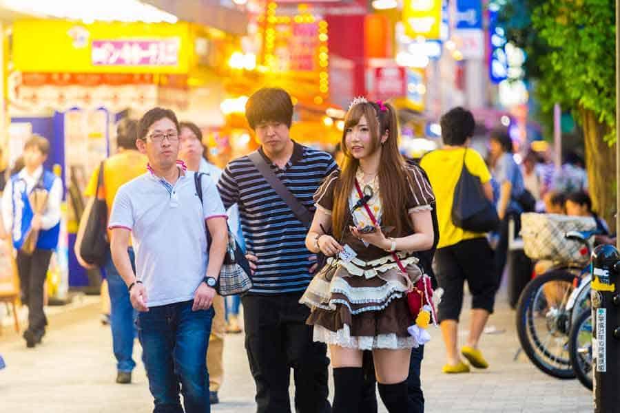 Tokyo Akihabara French Maid-Outfit Cafe Customers Akihabara