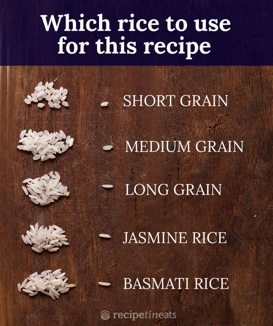 Which types of rice to use for this recipe