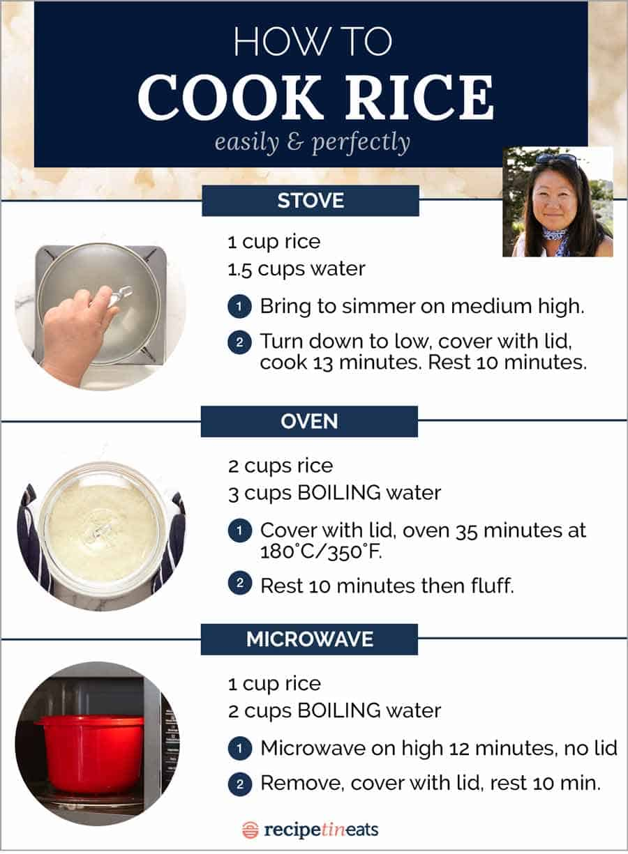 How to cook rice instructions