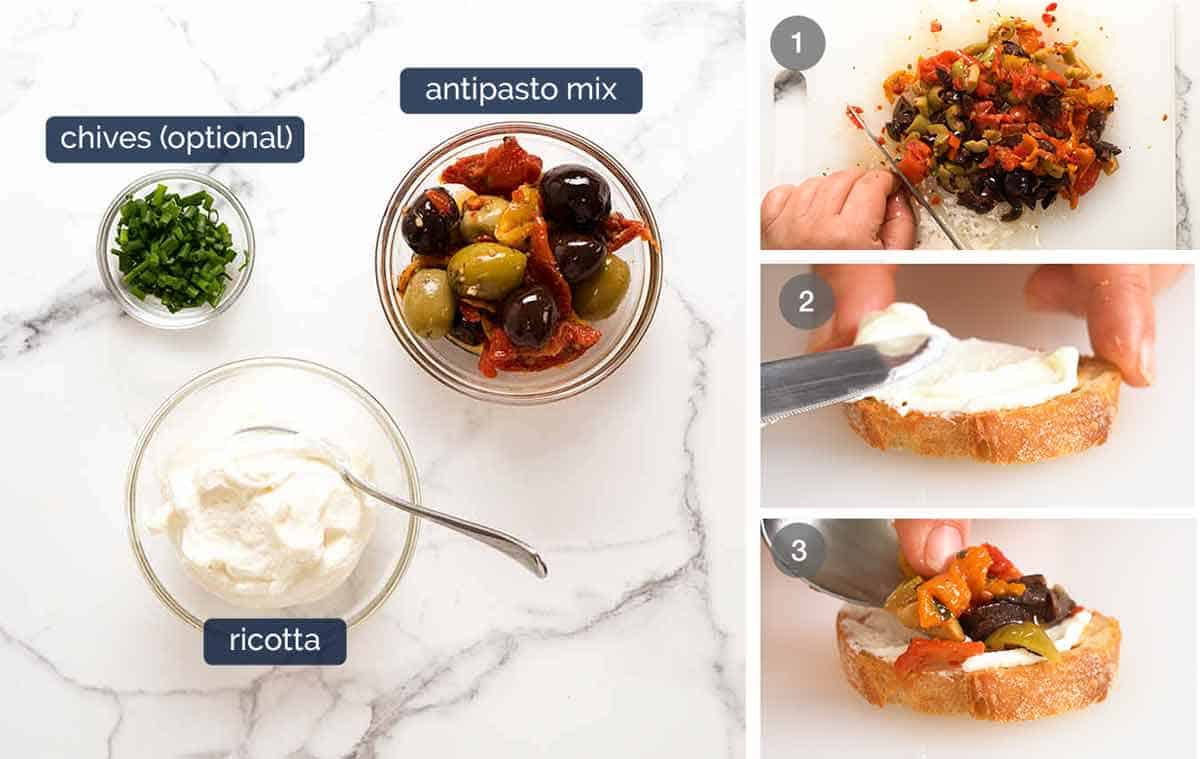 How to make Mediterranean Crostini