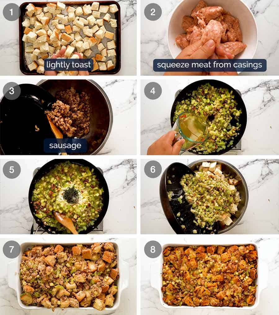 How to make Sausage Stuffing