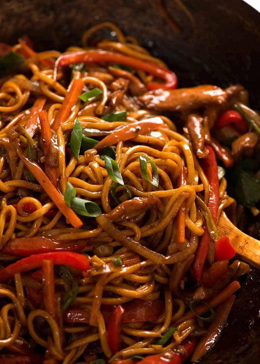 Lo Mein Noodles Recipetin Eats