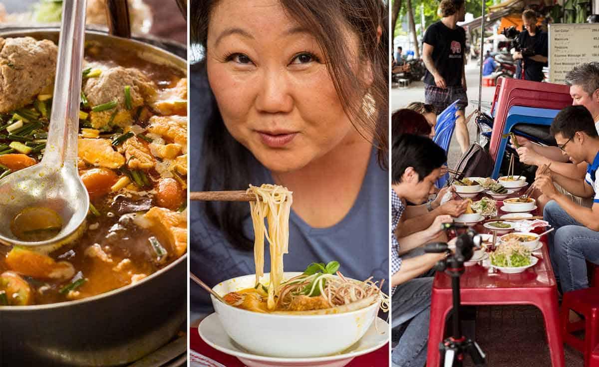 Best place for Bún riêu - Vietnamese Crab noodle soup - Bun Rieu Ganh in District 1 Saigon