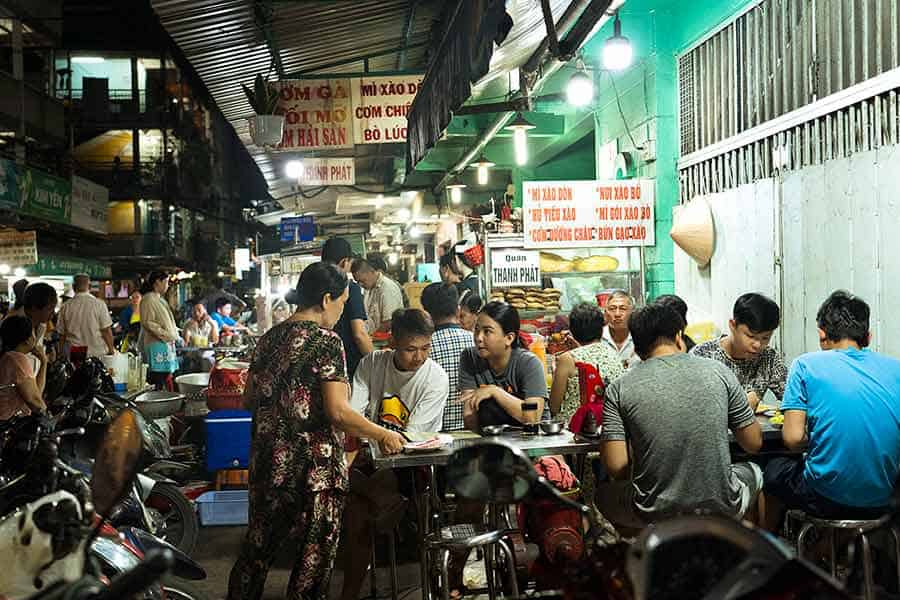 Street food ghetto in Ho Chi Minh City, Vietnam