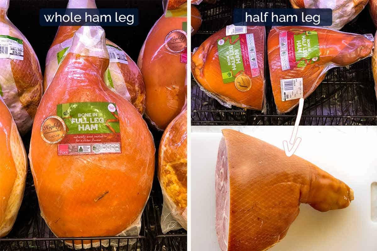 Whole and half ham leg - for Glazed Ham