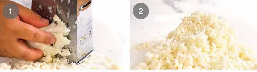 Grating Cauliflower Rice