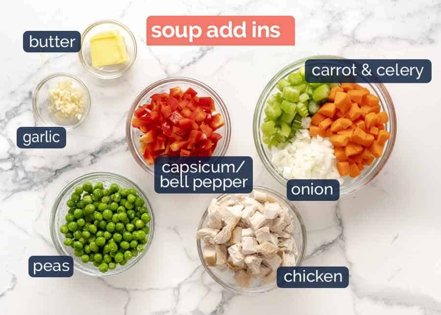 Ingredients in healthy Cream of Chicken Soup