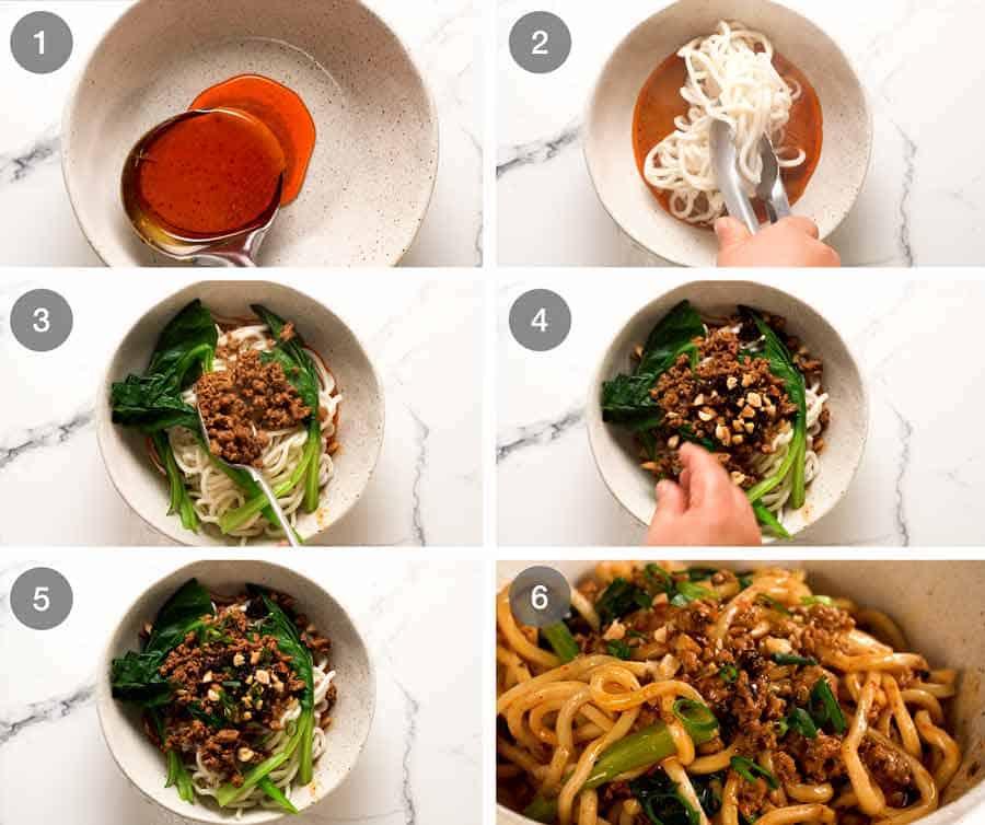 How to assemble Dan Dan Noodles