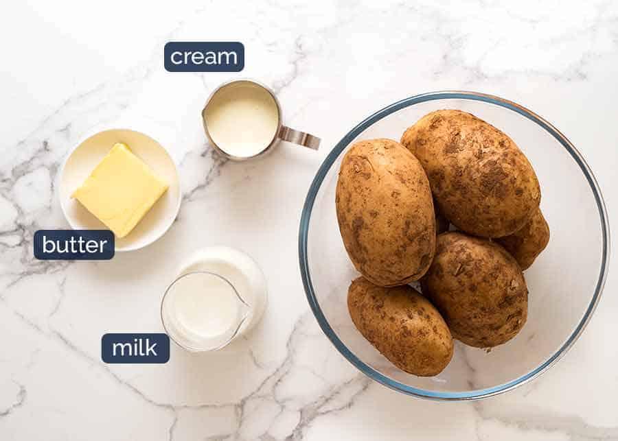 Ingredients for KFC Mashed Potato