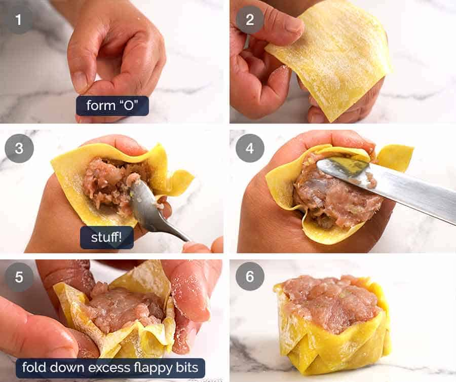 How to make Siu Mai (Chinese steamed dumpling) dipped in sauce