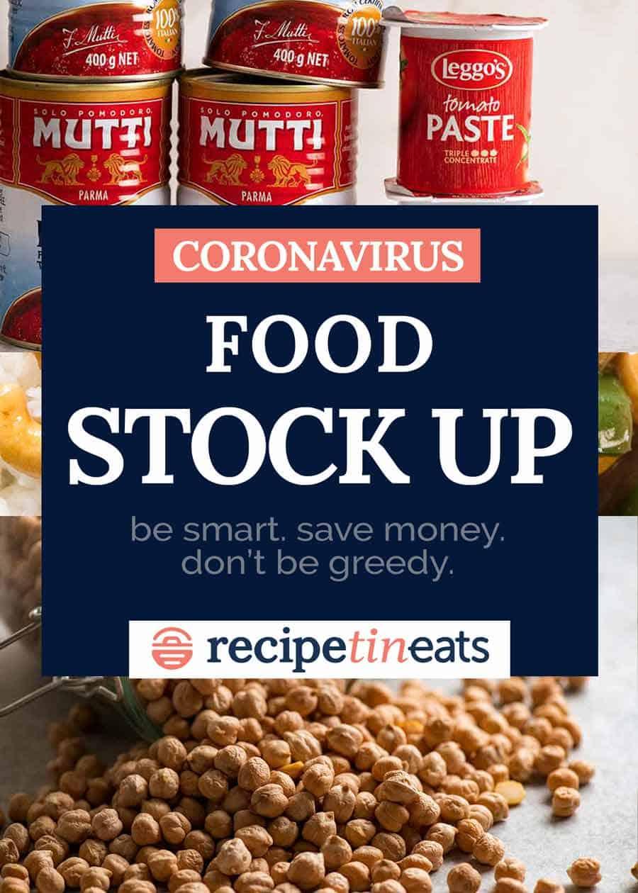 Coronavirus what food to stock up on