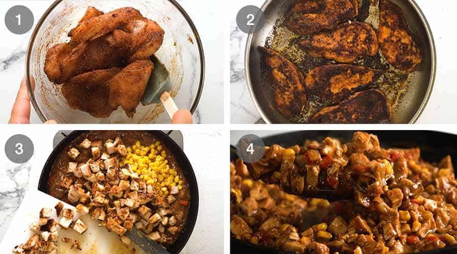How to make filling for Chicken Enchiladas